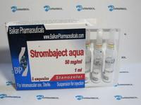 Винстрол Strombaject aqua (Balkan Pharmaceuticals stanozolol 50 mg 10 ампул, Молдова)